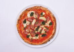 チョリソーと青唐辛子のピザ